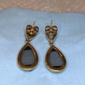Jewelry - Teardrop blue faux moon rock/geode earring